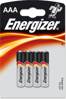 ENERGIZER AAA BATTERY CARD 4