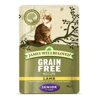 James Wellbeloved Senior Cat Pouch Grain Free - Lamb 85g x 12