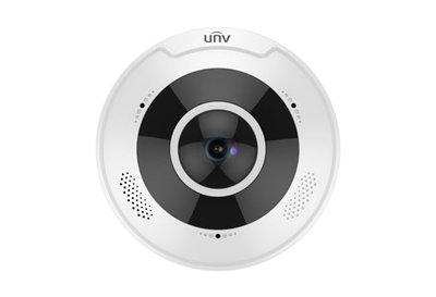 Uniview 12MP 4K Fisheye IP66 IK10 10m IR with Mic and Speaker