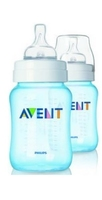 Avent 9Oz Bottle Blue Twin Pack