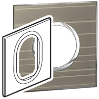 Arteor (British Standard) Plate 3 Module 1 Gang Round Formal | LV0501.2739