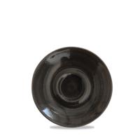 """Monochrome Iron Black Cappuccino Saucer 15.6cm 6 1/4"""" Carton of 12"""