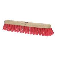"18"" Stiff PVC Contract Platform Broom Head Only"