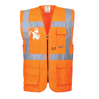 Portwest Berlin Executive Vest Hi-Vis Orange