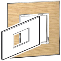 Arteor (British Standard) Plate 3 Module 2 Gang Square Light Oak   LV0501.2736