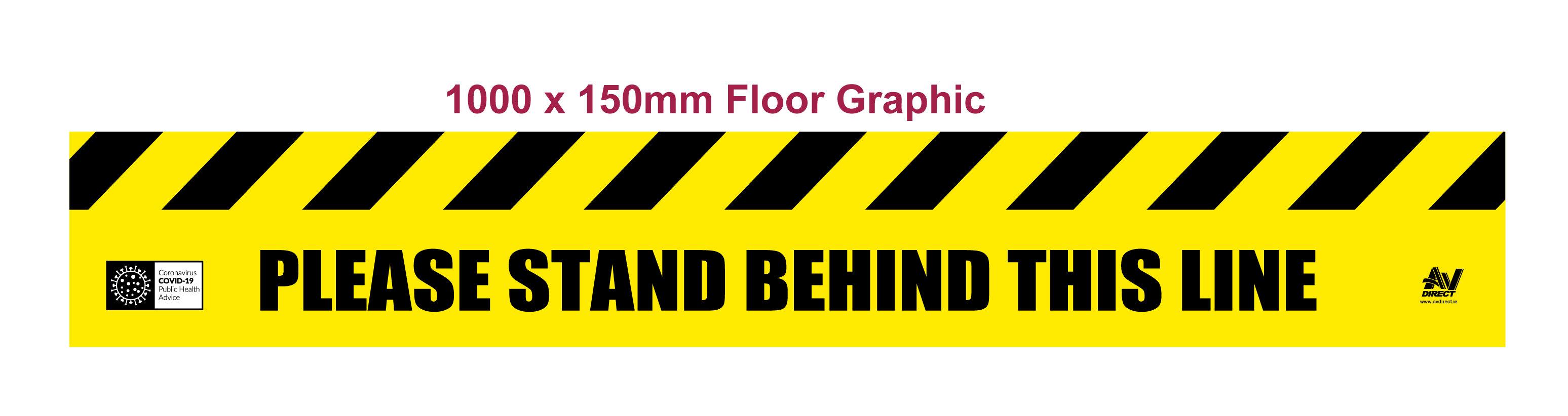 Floor Graphic with Hazard Strip