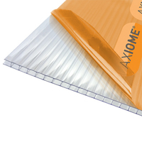TwinWall Polycarbonate Roofing Sheet Clear 10mm 3mtr x 1mtr