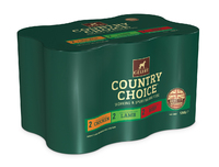 Gelert Country Choice Dog Cans Mixed Chunks in Jelly 1200g x 6 [Zero VAT]