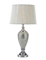 Arpeggio Table Lamp, Silver Mosaic with Silver String Shade | LV1802.0116