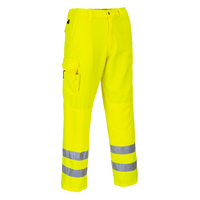 Portwest Hi-Visibility Combat Trousers Hi-Vis Yellow