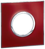 Arteor (British Standard) Plate 2 Module 1 Gang Round Mirror Red | LV0501.2709