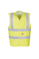 Sioen Hellisan Flame retardant and anti-static hi-vis waistcoat