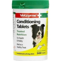 Vetzyme Dog Conditioning Tablets 500 Tab x 1