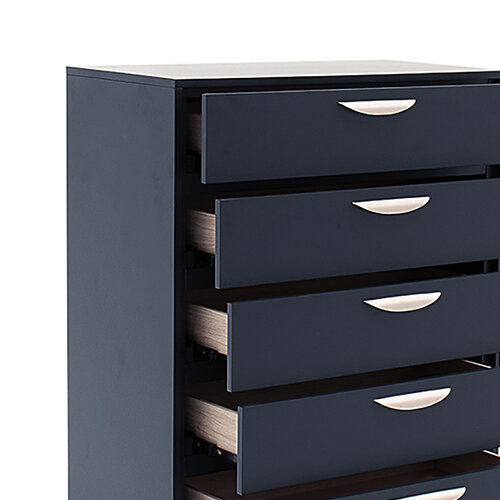 Selini Tall Chest - 5 Drawer - Blue drawers