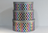 HAT BOX SILVER COL HOT FOIL SET OF 3 BOXES