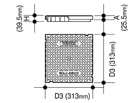 Manhole Cover for Wavin Access Junction 310 x 310 mm