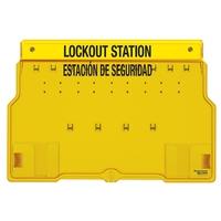 Master Lock 10-lock padlock station, english/spanish, unfilled
