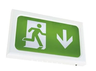 ENCORE 2.6 WATT LED MAINTAINED EXIT SIGN  COMES WITH LEGEND IP20 3 YEAR WARRANTY WHITE