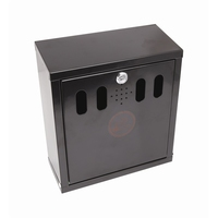 Wall Mounted Ashtray Black 26 x 28 x 16cm