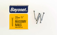 Bayonet Zinc Plated Masonry Nails (36) 20mm 36 Nails - 12202