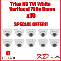 Triax Varifocal 720p TVI Dome  White X 10