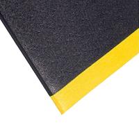 Black Orthomat with Yellow Borders, 0.9m x 1.5m