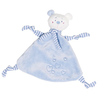 Blue Cuddly Baby Teething Bear