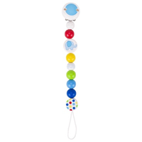 Blue elephant pacifier chain for baby's soother