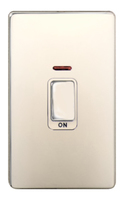 DETA Screwless Tall Cooker Switch with Neon White Metal White Insert | LV0201.0036