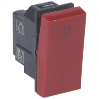 Arteor Double Pole Switch Red Colour 20Amp  | LV0501.2477