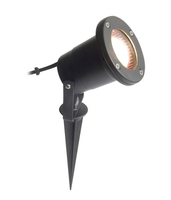 LEE 50W mains voltage garden spike,  IP65, Black