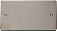 Click Litehouse DECO 2G Blank Plate Satin Chrome