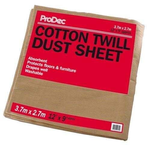 129SQB 12FT X 9FT COTTON TWILL DUST SHEETS
