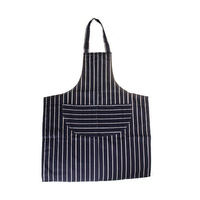 Butchers Stripe Apron Navy