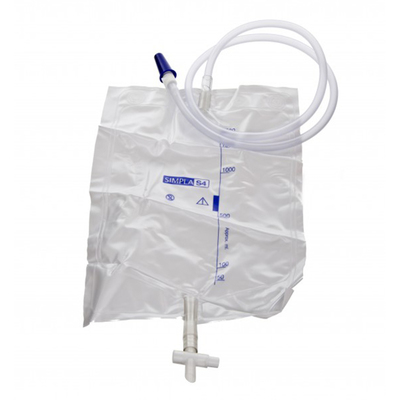 Urine Collection Bag 2 Litre with 100cm Inlet tube
