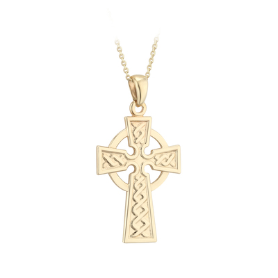 9K 21MM CELTIC CROSS PENDANT