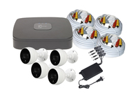 C2 Max 4Channel Kit - 1TB HDD and 4 x 4MP 2.8mm IR/PIR White Bullet Cameras