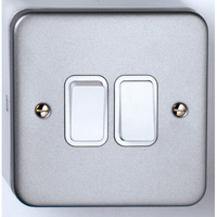 10A 2 Gang 2 Way Metal Clad Switch