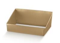 BOX TRAY GOLD HIGH BACK 400X320X150MM