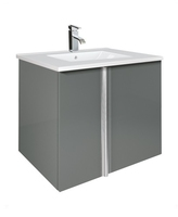 SONAS AVILA 60CM WALL HUNG VANITY UNIT GLOSS GREY W600MM X D460MM