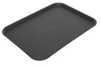 Flat Tray Polypropylene Black 410 x 300mm