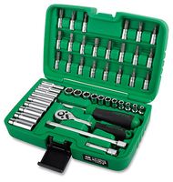 "1/4""Dr Socket & Bit Set deep/reg 46Pc metric"