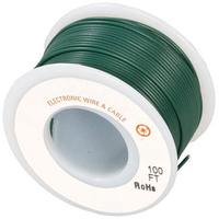 Electronic Wire Tinned Copper 300Meters Spool Green