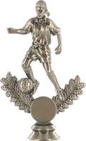 Metal Plated Soccer Figure (Female)