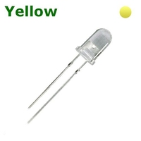 TKL-D5Y | LED DIODE 5 MM YELLOW - THROUGH HOLE CLEAR BAG OF 1KPCS