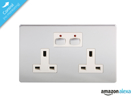 Mi|Home Style - Double Socket - chrome