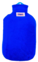 Contour Covered 2 Litre Hot Water Bottle Blue