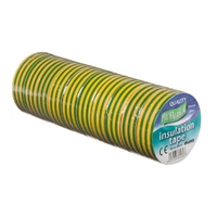 19mm x 20m Electrical PVC Regal Tape (Green/Yellow)