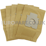 No. 57 Panasonic 71 / 852 Cylinders Paper Dust Bags (Pack of 5)