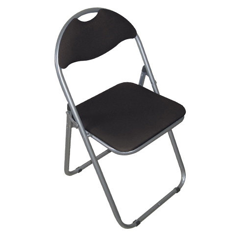 Euroactive Padded Folding Chair - Black